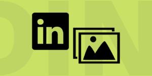 Couverture d'article représentant une image et le logo LinkedIn